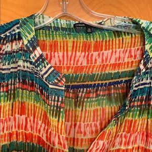 Bright, multicolor blouse, 3/4 sleeves